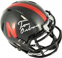 Tom Osborne Nebraska Cornhuskers Autographed Riddell Mini Helmet