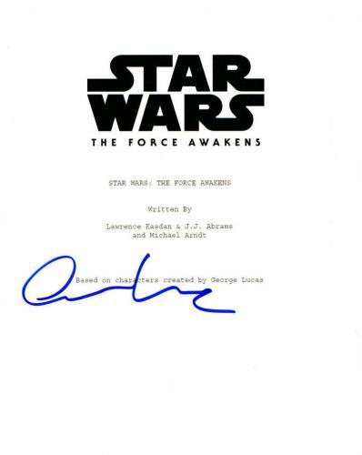 Oscar Isaac Signed Star Wars The Force Awakens Full Script Autograph Coa