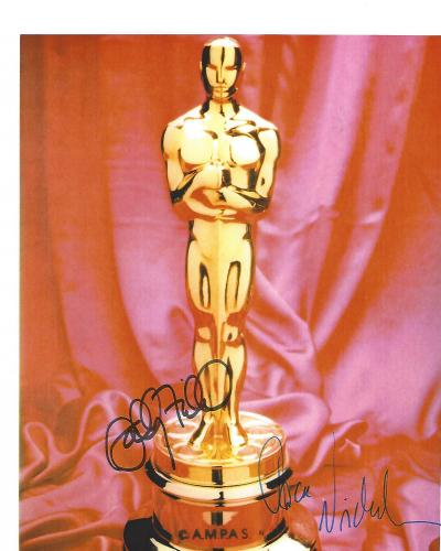 OSCAR WINNERS JACK NICHOLSON and SALLY FIELDS Signed 8.5x11 Color Paper Thin