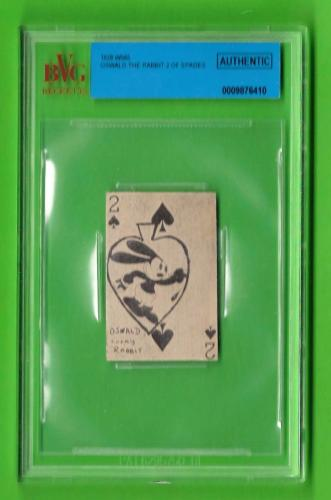 Oswald the Rabbit 2 0f Spades - 1928 W565 Film Strip Card - Beckett Authentic