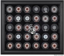 Ottawa Senators 30-Puck Black Display Case - Mounted Memories