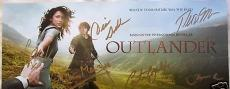 Outlander cast signed auto 2014 ComicCon SDCC 6x14 promo photo card mini poster