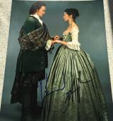 "OUTLANDER"" SAM HEUGHAN & CAITRIONA BALFE SIGNED AUTOGRAPH PROMO 8x10 PHOTO A"