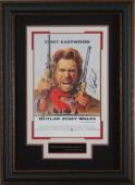 Outlaw Josey Wales Clint Eastwood Signed 11x17 Poster Framed