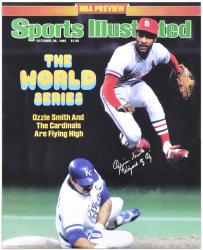 Ozzie Smith St. Louis Cardinals Sports Illustrated Cover Autographed 16'' x 20'' Photograph with Wizard of Oz Inscription - Mounted Memories