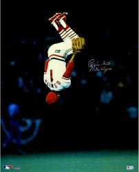 "Ozzie Smith St. Louis Cardinals Autographed 16'' x 20'' The Flip Photograph with ""The Wizard"" Inscription"