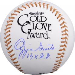 "Ozzie Smith St. Louis Cardinals Autographed Gold Glove Baseball with ""13X G.G."" Inscription"