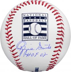 "Ozzie Smith St. Louis Cardinals Autographed Hall of Fame Baseball with ""HOF '02"" Inscription"
