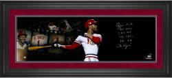 """Ozzie Smith St. Louis Cardinals Framed Autographed 10"""" x 30"""" Film Strip Photograph with Multiple Inscriptions-#2-23 of a Limited Edition of 24"""