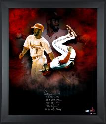 """Ozzie Smith St. Louis Cardinals Framed Autographed 20"""" x 24"""" In Focus Photograph with Multiple Inscriptions-#24 of a Limited Edition of 24"""