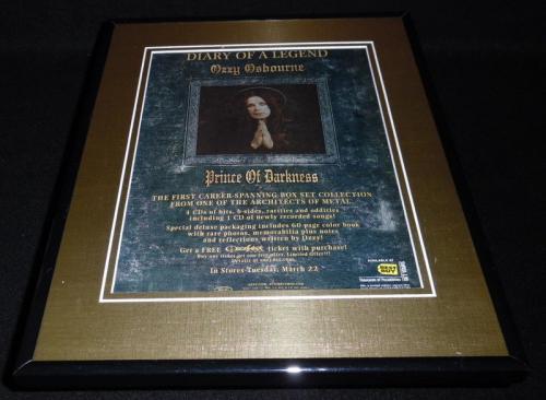 Ozzy Osbourne 2005 Prince of Darkness 11x14 Framed ORIGINAL Advertisement