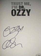 Ozzy Osbourne autographed auto signed Trust Me I'm Dr. Ozzy hardcover book MINT