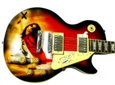 Ozzy Osbourne Autographed Signed Airbrush Cross Guitar