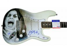 Ozzy Osbourne Autographed Signed Airbrushed Guitar UACC RD PSA