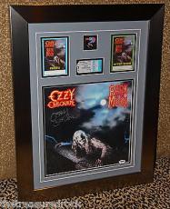 OZZY OSBOURNE Bark at the Moon signed autographed record LP FRAMED PASS PSA COA