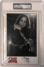 Ozzy Osbourne Black Sabbath Heavy Metal Signed 5x8 Photo PSA/DNA Slabbed