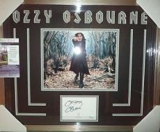 Ozzy Osbourne Black Sabbath Jsa Coa Signed Auto Photo Double Matted & Framed A