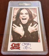 Ozzy Osbourne BLACK SABBATH Signed 5x7 Photo Card PSA/DNA Slabbed #1