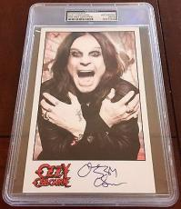 Ozzy Osbourne BLACK SABBATH Signed 5x7 Photo Card PSA/DNA Slabbed #2