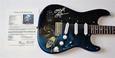 Ozzy Osbourne Black Sabbath Signed Airbrushed Guitar Jsa Loa X07034