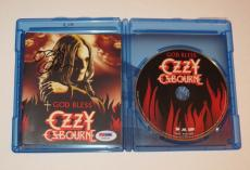 OZZY OSBOURNE Black Sabbath Signed Autographed GOD BLESS BLU RAY DISC w/ PSA DNA