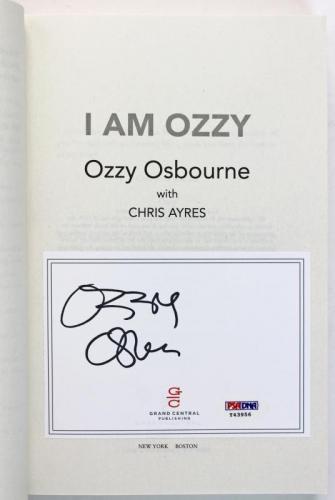 Ozzy Osbourne Black Sabbath Signed I Am Ozzy Autographed Book PSA/DNA