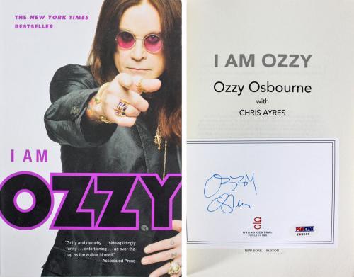 Ozzy Osbourne Black Sabbath Signed I Am Ozzy Paperback  Book PSA/DNA #Y43944