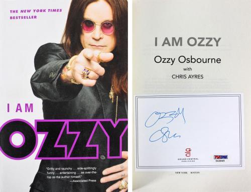 Ozzy Osbourne Black Sabbath Signed I Am Ozzy Paperback Book PSA/DNA #Y43945