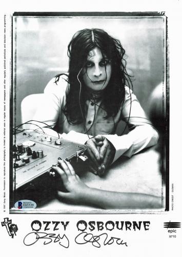 Ozzy Osbourne Black Sabbath Signed Promo 8.5x11.75 Photo BAS #E85539