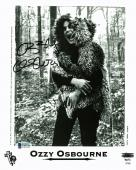 Ozzy Osbourne Black Sabbath Signed Promotional Photo BAS #E85523
