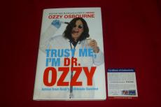 OZZY OSBOURNE black sabbath trust me I'm Dr ozzy signed PSA/DNA book