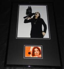 Ozzy Osbourne Framed 11x17 Worn Shirt & Photo Display The Osbournes