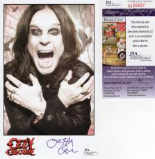 OZZY OSBOURNE HAND SIGNED 5x8 COLOR PHOTO         BLACK SABBATH         JSA