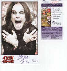 OZZY OSBOURNE HAND SIGNED 5x8 PHOTO     BLACK SABBATH     GREAT POSE     JSA