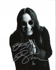 OZZY OSBOURNE - In 1970's LEAD VOCALIST of 'BLACK SABBATH' and in 1979 Launched Successful Solo Career - Signed 8x10 B/W Photo