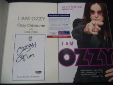 "Ozzy Osbourne Music Legend Signed Auto ""i Am Ozzy"" Soft Cover Book Psa/dna Coa"