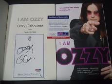 "Ozzy Osbourne Music Legend Signed Auto ""i Am Ozzy"" Soft Cover Book Psa/dna Coa A"