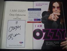 "Ozzy Osbourne Music Legend Signed Auto ""i Am Ozzy"" Soft Cover Book Psa/dna Coa B"