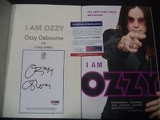 "Ozzy Osbourne Music Legend Signed Auto ""i Am Ozzy"" Soft Cover Book Psa/dna Coa C"
