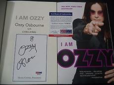 "Ozzy Osbourne Music Legend Signed Auto ""i Am Ozzy"" Soft Cover Book Psa/dna Coa D"