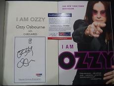 """Ozzy Osbourne Music Legend Signed Auto """"i Am Ozzy"""" Soft Cover Book Psa/dna Coa E"""