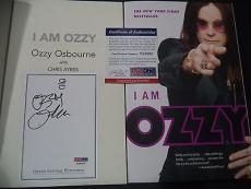"Ozzy Osbourne Music Legend Signed Auto ""i Am Ozzy"" Soft Cover Book Psa/dna Coa I"