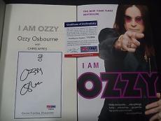 "Ozzy Osbourne Music Legend Signed Auto ""i Am Ozzy"" Soft Cover Book Psa/dna Coa J"