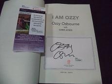 "Ozzy Osbourne Music Legend Signed Autograph "" I Am Ozzy"" Book Jsa Coa #k59354 A"