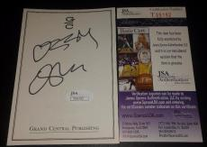 Ozzy Osbourne Music Legend Signed Autographed 4x5 Bookplate Jsa Coa #t55192