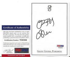 Ozzy Osbourne Music Legend Signed Autographed 4x5 Bookplate Psa/dna Coa A Rare