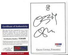Ozzy Osbourne Music Legend Signed Autographed 4x5 Bookplate Psa/dna Coa E Rare