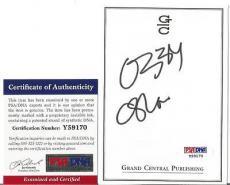 Ozzy Osbourne Music Legend Signed Autographed 4x5 Bookplate Psa/dna Coa G Rare