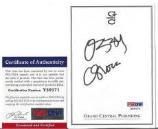 Ozzy Osbourne Music Legend Signed Autographed 4x5 Bookplate Psa/dna Coa H Rare