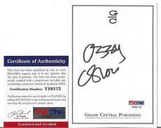 Ozzy Osbourne Music Legend Signed Autographed 4x5 Bookplate Psa/dna Coa I Rare